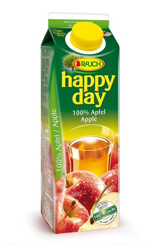 Happy Day Apfelsaft 100 % 1L Tetra Pack