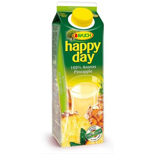 Happy Day Ananassaft 100% 1L Tetra Pack